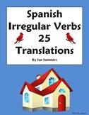 Spanish Irregular Yo Verbs with Days of the Week 25 Translations