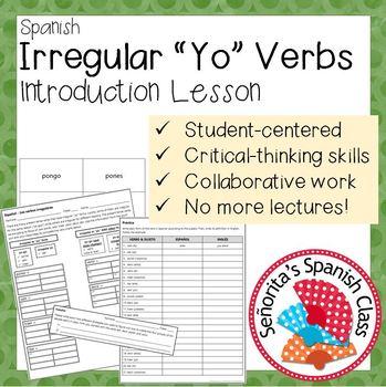 Irregular Yo Present Teaching Resources Teachers Pay Teachers