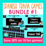 Spanish Jeopardy-Style Trivia Games BUNDLE #1