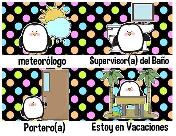 Spanish Job Chart