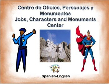 Spanish - Jobs, Characters and Monuments/ Oficios y Monumentos in a Station