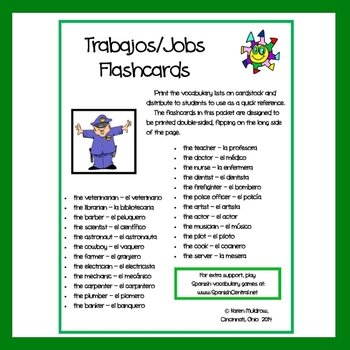 Spanish - Jobs Flashcards
