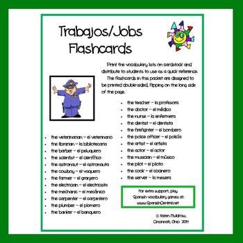 Spanish - Jobs Flashcards