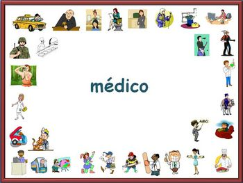 Spanish Jobs and Professions Powerpoint (Activities and Games)