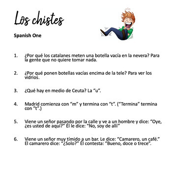 Spanish Jokes and Sayings Los chistes y refranes