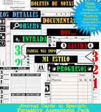 Spanish Journal Cards: Formative assessment pack
