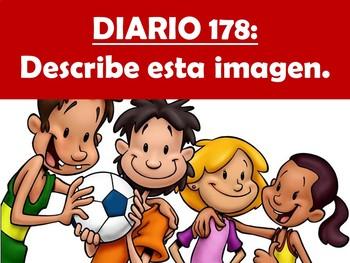 Spanish Journal Prompts for Beginning & Intermediate Classes - Los Diarios