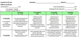 Spanish Journal Rubric for Advanced / Upper Levels