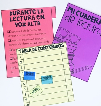 Spanish Journal Tabs for Reading Workshop Journal - Blank Editable Tabs!