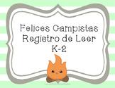 Spanish K-2 Reading Log