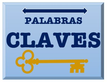 Spanish Key Words (Palabras Claves)