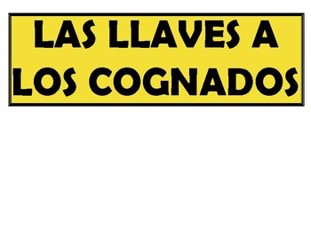 "Spanish ""Keys to Cognates"" Bulletin Board Set"