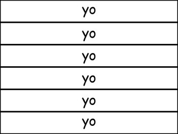 Spanish Kinder Sight Word Bracelets