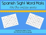 Spanish Kinder Sight Word Mats (for the entire year!)