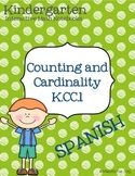 Spanish Kindergarten Interactive Math Notebook K.CC.1