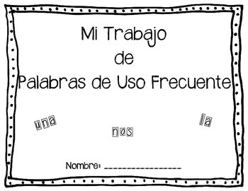 Spanish Kindergarten Sight Word Practice