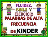 Spanish Kindergarten Sight Words Dance & Exercise  Palabras de Frecuencia Marzo