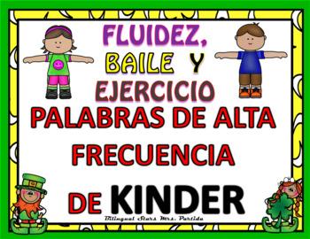 Spanish Kindergarten Sight Words Dance & Exercise  Palabra