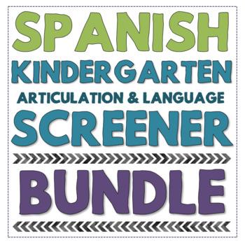 Spanish Kindergarten Speech And Language Screening Kit No Print