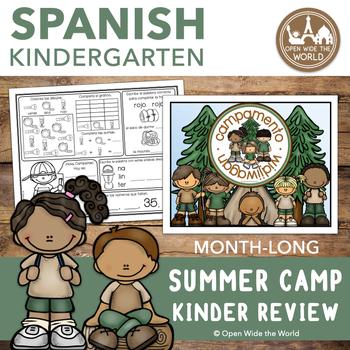 Spanish Kindergarten Summer Review: Campamento Widjiwagan Review BOOK