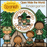 Spanish Kindergarten Summer Review: Campamento Widjiwagan