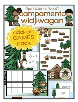 Spanish Kindergarten Summer Review: Campamento Widjiwagan Review GAMES