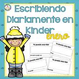 Kindergarten Writing NO PREP Escribiendo Diariamente en Kinder January Spanish
