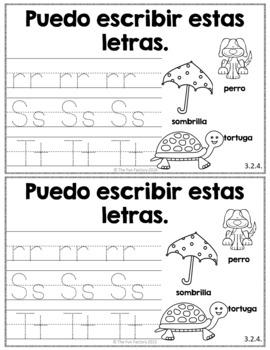 Kindergarten Writing NO PREP Escribiendo Diariamente en Kinder November