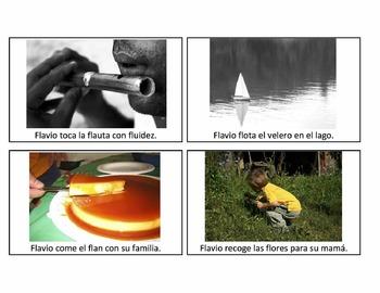 Spanish L-Blends Loaded Sentences, Basic Sentences & Words