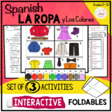 Spanish LA ROPA Clothing and Colors Interactive Notebook