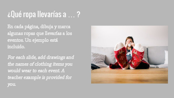 Spanish La Ropa Carrousel Activity: Clothing Words and the Conditional Tense