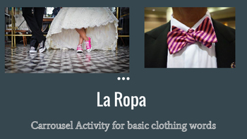Spanish La Ropa Carrousel Activity: Clothing Words and the