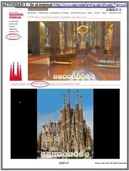 Spanish - Explore La Sagrada Familia Stations Activity! - ENGLISH version