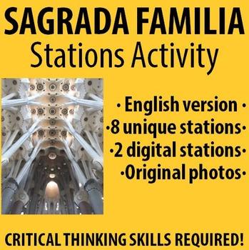 Spanish - Explore La Sagrada Familia Stations Activity! -