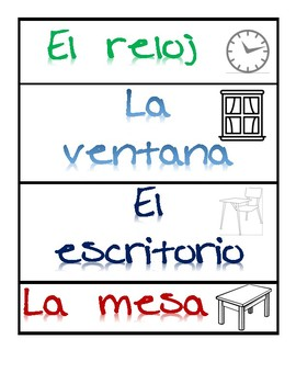 Spanish Labels for Classroom