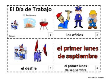 Spanish Labor Day 2 Emergent Reader Booklets - Día de Trabajo