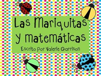 Spanish Ladybug math counting mats and counting game