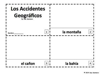 Spanish Landforms - 2 Emergent Reader Booklets