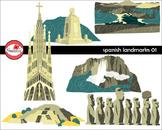 Spanish Landmarks 01 Clipart by Poppydreamz