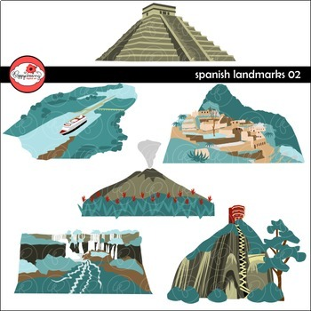 Spanish Landmarks 02 Clipart by Poppydreamz