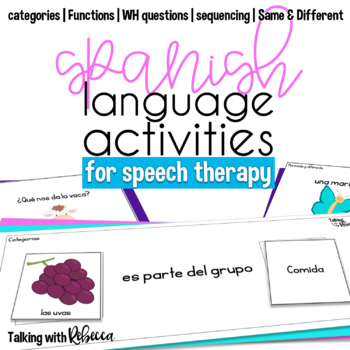 Spanish Language Activities for Speech Therapy