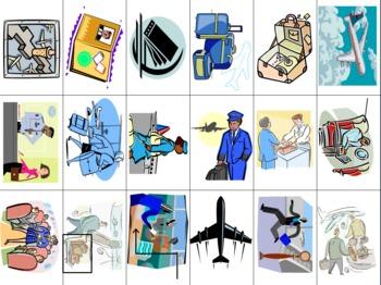 Spanish Language Airport Slapjack Game Cards / Flashcards