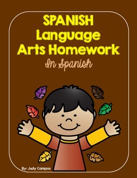 September Spanish Language Arts Homework for First Graders