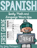 Spanish Language Arts and Math Morning Work *January Edition*