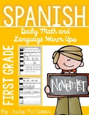 Spanish Language Arts and Math Morning Work *November Edition* 1st Grade