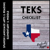 Spanish Language Arts and Reading Vertical TEKS Checklist (Elementary & Middle)