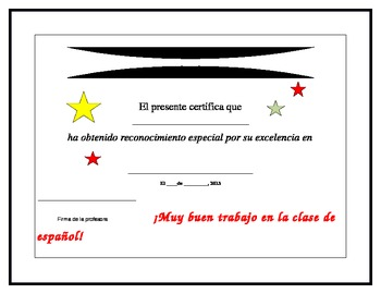 Spanish Language Award