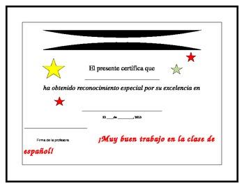 Spanish Language Award