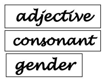 Spanish / Language - Building Academic Vocabulary