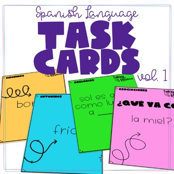 Spanish Language Task Cards for Speech Therapy